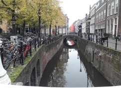 It's Holland, canals and bicycles!