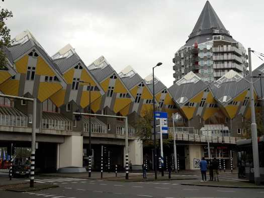 Box shaped apartments
