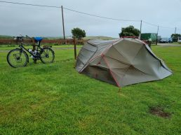 Tent and bike