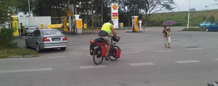 Man cycling