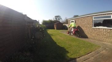 Man bike garden