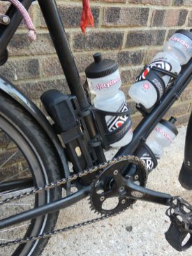 Bicycle and water bottles
