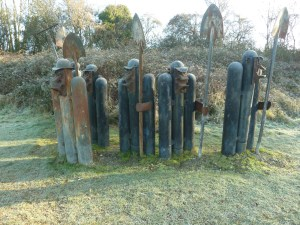 Sculpture made of old gas bottles