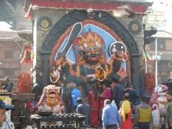 The diety Shiva in Durbar Square Kathmandu