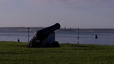 cannon looking out over the Solent