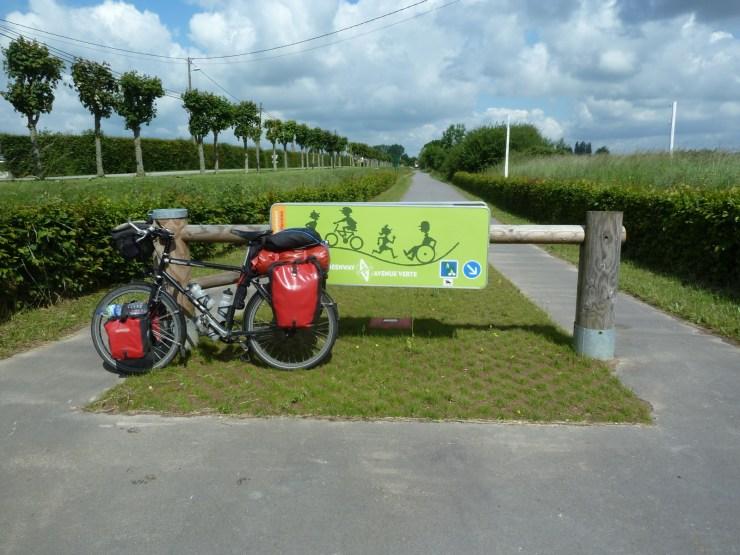 Bike on the Avenue Verte