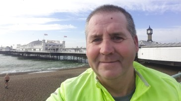 Garry McGivern at Brighton pier