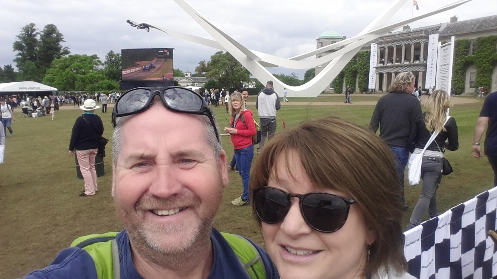 Julie and Garry at Goodwood