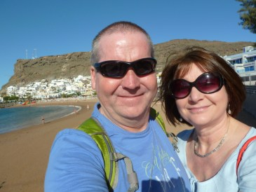 Julie and Garry McGivern in Gran Canaria