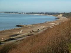 Beach cliff sea