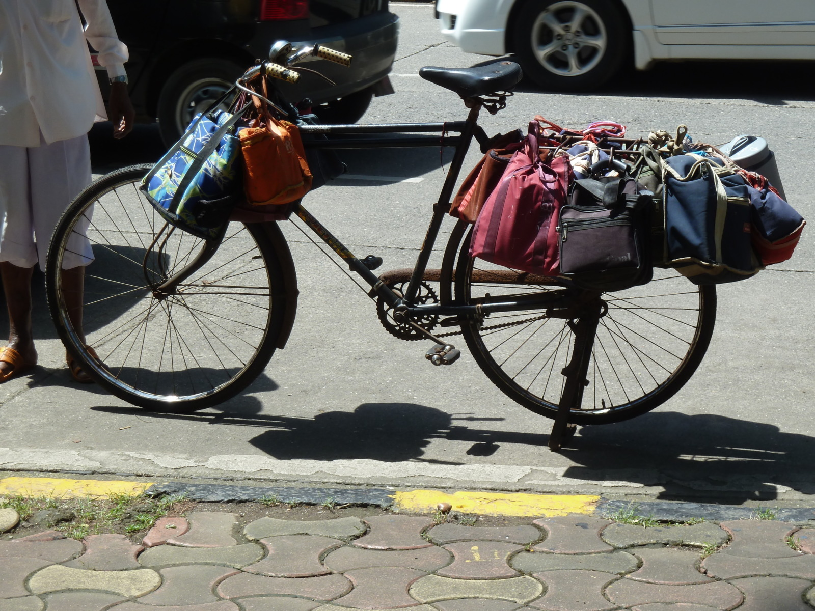 A dabbawalas bike in Mumbai
