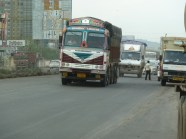 One of the many trucks on the roads.