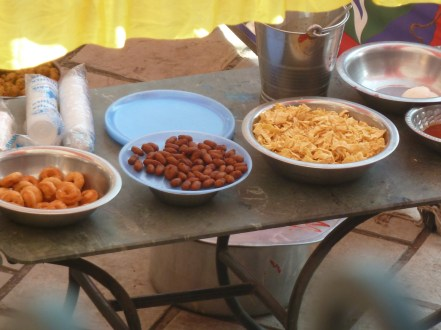 Food for the banquet at the hotel Ganapati Palace