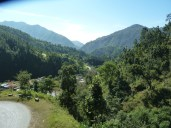 Slowly climbing up the Tribhuvan Highway