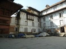 Damaged buildings in Nasel Chowk Durbar Square Kathmandu