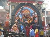 The diety Shiva in Durbar Square Kathmandu.
