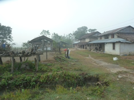 Small village near the Chitwan national park.