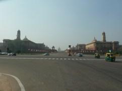 Looking towards Raisina Hills, Delhi