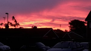 Red sky in the morning