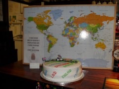 The cake with a map of Garry McGivern route