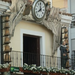 Carillion clock in plaza Mayor Real Ciudad