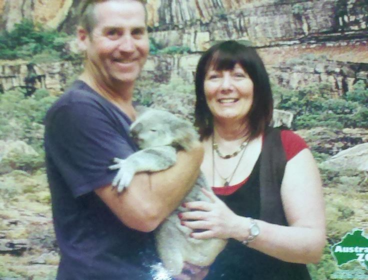 Garry McGivern with a koala