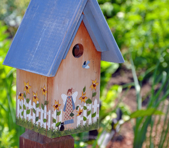 Schicke Gartendekoration