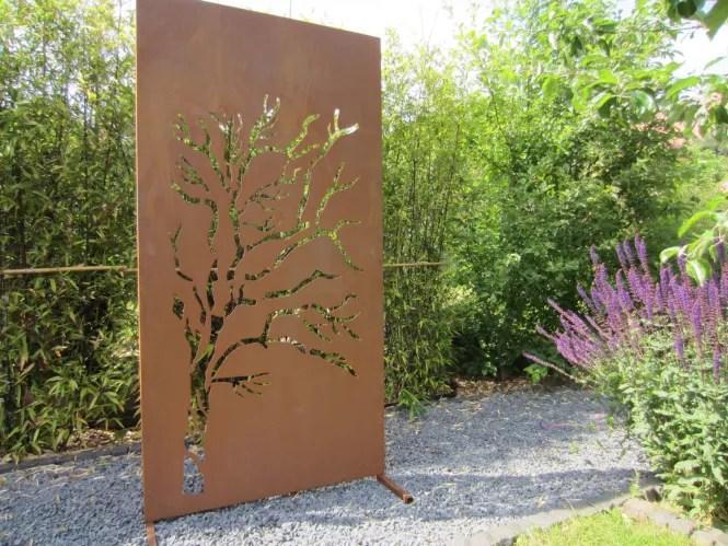 moderner sichtschutz und spaliere moderne sichtschutz wand weide ... - Moderner Sichtschutz Im Garten
