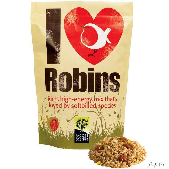 Rotkehlchenfutter 'I love Robins'