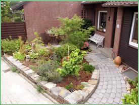 vorgarten ideen reihenhaus | moregs, Gartengestaltung