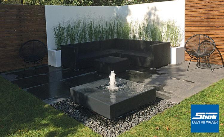 Gartenbrunnen Alumento 100  Slink  Gartenbrunnen