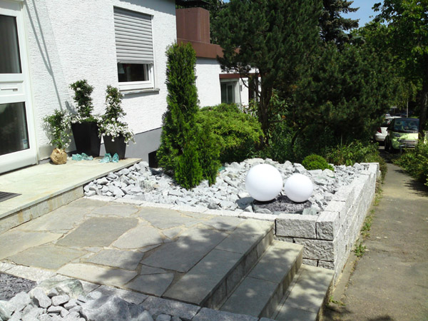 vorgartengestaltung reihenhaus beispiele - boisholz, Gartenarbeit ideen