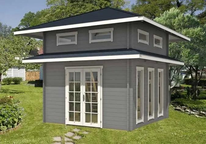 Ein Gartenhaus mit Schlafboden Mehr Platz zum bernachten