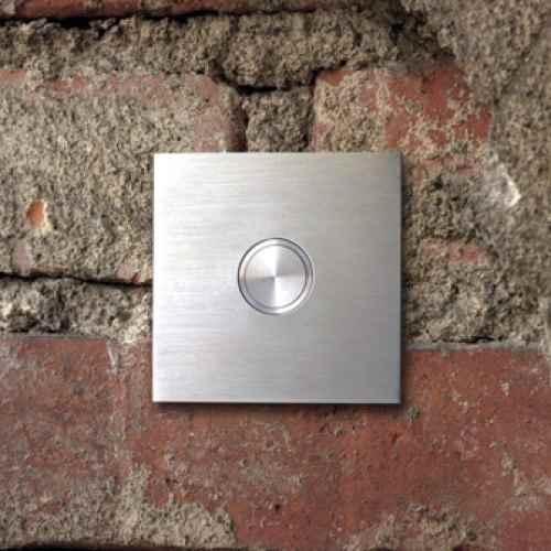 Tr Klingelknopf modern auen quadratisch Edelstahl Design