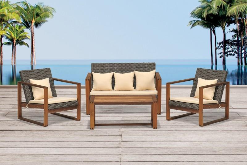 gartenmobel lounge holz   mojekop, Terrassen ideen