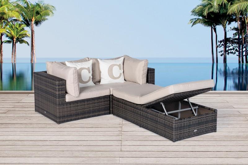 product info info p rattan lounge kuala braun - boisholz, Garten und bauen