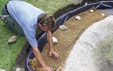 teichbau leicht gemacht teichbau teichbepflanzung kokosmatte