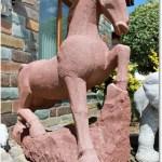 Garten Tierfiguren Pferde Aus Sandstein