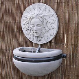 Gartenbrunnen aus Steinguss - Cosmea