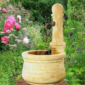 Gartenbrunnen aus Steinguss - Provençal