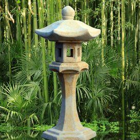 Japanische Laterne aus Steinguss - Hiragana