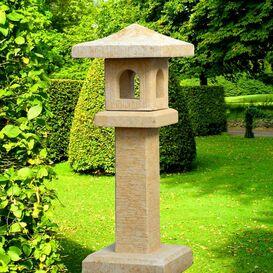 Japanische Laterne aus Steinguss - Kanji