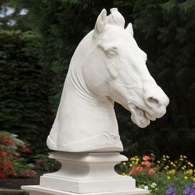 Steinguss Pferdebüste Pferdekopf - Equitanus