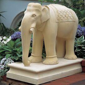 Steinguss Elegantenskulptur - Elephas