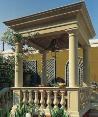 Antiker Garten Pavillon aus Stein - rechteckig ...