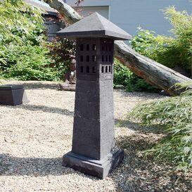 """Steinfigur """"Jakumoto"""" - Japanische Laterne für den Garten"""