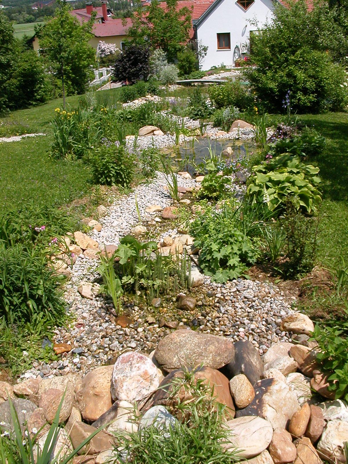 Bachlauf Im Garten Anlegen teich mit bachlauf im garten
