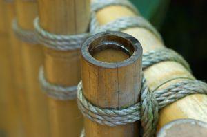 Systemgartenzaun aus Bambus