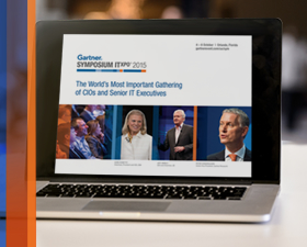 Gartner Symposium/ITxpo 2015 4 — 8 October | Orlando, Florida gartner.com/us/symposium