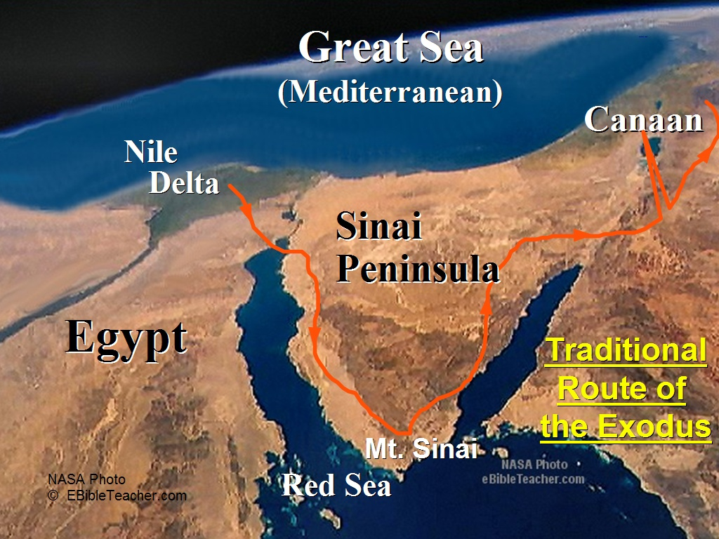 Image result for route of the exodus